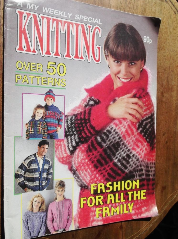 Vintage Knitting Pattern Magazine My Weekly Knitting Special 50